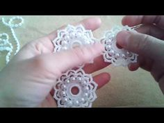 Irish Crochet Blackberry motif part 4, berries - YouTube