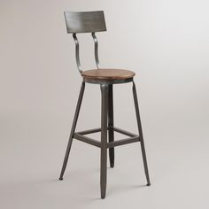 Hudson Pub Stool | World Market -$140 each. Kitchen Bar stools