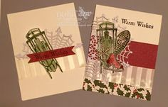 Winter Wishes - Stampin' Up - Debbie's Designs: Two For Tuesday Take Thirteen! Stampin Up Christmas, Christmas Cards To Make, Xmas Cards, Handmade Christmas, Holiday Cards, Christmas Holidays, Winter Cards, Christmas Projects, Stampin Up Cards
