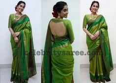 http://www.celebritysaree.com/2017/06/regina-in-green-soft-silk-saree.html