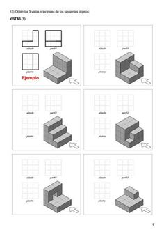 Drawing Lessons For Kids, Drawing Skills, Line Drawing, Drawing Tips, Autocad Isometric Drawing, Isometric Drawing Exercises, Orthographic Drawing, Perspective Sketch, Interesting Drawings