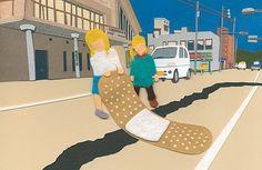 Takeru Toyokura creates trippy, sinister children's scenes from coloured paper and felt
