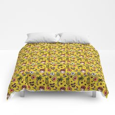 Hawaiian Dreaming - Yellow Comforters Yellow Comforter, Teacups, Hawaiian, Comforters, Blanket, Bed, Creature Comforts, Blankets, Stream Bed