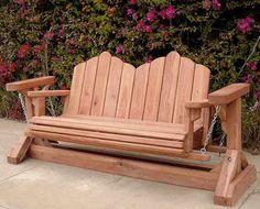 Redwood Glider Swing Bench - Very unique!
