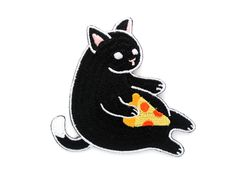 Myever-popular pizza cat, now in patch form!Put pizza cat almost anywhere-- from thefavorite jacket you eat pizza in, to the wallet you buy pizza with. THE NITTY GRITTY ✎ Embroidered iron-on patch, made from my original illustration✎ 3 inches (76mm) in diameter✎100% embroidered✎ Can be ironed on or sewn on PACKING & SHIPPING Packaged in a clear plastic sleeve with sturdy header card. Ships via USPS First Class Mail (arrives in 2-5 days). Priority Mail upgrade (1-3 days) available ...