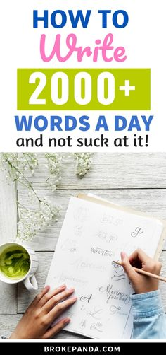 Are you struggling to write even 100 words a day? This post will not only help you to write 100 words with no effort at all but you'll learn how to write over 2000 words a day!
