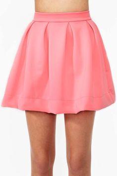 Scuba Skater Skirt - Pink