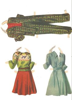 Miss Missy Paper Dolls: Slumber Party Name: Slumber Party  Date: 1943 Publisher: Merrill Artist: Louise Rumely