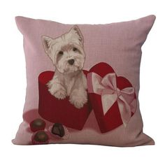 Playful Puppies Pillow Cushions