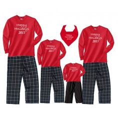 a97af6321b Matching Christmas Pajamas for the Whole Family are a popular family  holiday tradition! Personalized Christmas Pajama Sets are a unique holiday  family gift ...