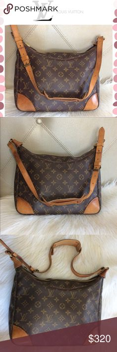 Authentic Louis Vuitton Boulogne 30 shoulder bag Preowned condition with some normal wear. Some rubbing on corners of the bag. Some wear on edges and strap. Interior is clean with some pen marks on one corners. Clean interior pocket. Long adjustable strap that could be worn as cross body bag. Great size everyday bag. Code is located on the left side above the interior pocket. Engraved: 8911A2 Made in France. No dust bag offers welcome Louis Vuitton Bags Shoulder Bags