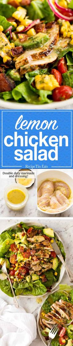 You'll love how the bright zesty dressing does double duty as the marinade for the chicken!