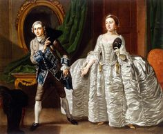 David Garrick and Hannah Pritchard in a Scene from 'Suspicious Husbands' Francis Hayman (English, Oil on canvas. Museum of London. David Garrick and Mrs. Pritchard as 'Ranger' and 'Clarinda' in Scene IV, Act IV, of 'The Suspicious. London Photos, London Art, Baroque Painting, Rococo Fashion, London Museums, Art Uk, Victoria And Albert Museum, 18th Century, Husband