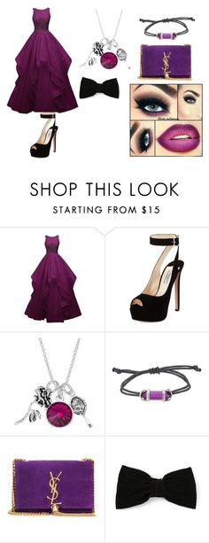 """""""crystal cain ball outfit"""" by bellapaige-marshall on Polyvore featuring Prada, Disney, Yves Saint Laurent and Maison Michel"""