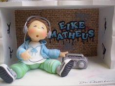 Boy Fondant Cake Toppers, Fondant Figures, Cupcake Cakes, Music Themed Cakes, Music Cakes, Men Cake, Cakes For Men, Clay Dolls, Art Dolls