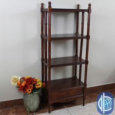 55 inches high x 22 inches wide x 13 inches deep International Caravan Windsor 4-tier/ 1-drawer Hand-carved Hardwood Bookshelf. Get free shipping at Overstock.com - Your Online Furniture Outlet Store! Get 5% in rewards with Club O!