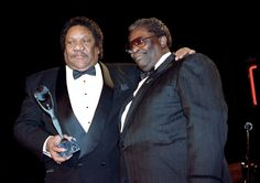 Bobby (Blue) Bland, left, with B.B. King, was inducted into the Rock and Roll Hall of Fame in 1992.