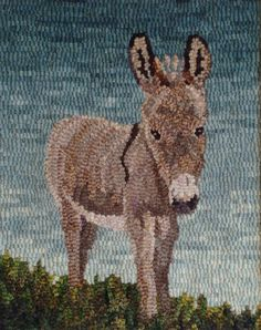 Woolen Tales Rug Art: Hee Haw count down to Christmas Rug Hooking Designs, Rug Hooking Patterns, Horse Rugs, Animal Rug, Punch Needle Patterns, Rug Texture, Hand Hooked Rugs, Penny Rugs, Weaving Art