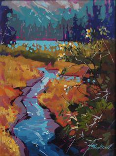 Island Stream Acrylic 12x16