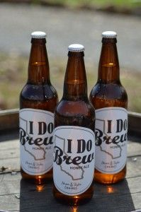 create custom beer labels to serve at the wedding or for groomsmen gifts