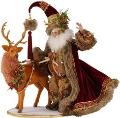 Mark Roberts - Santa with Deer Display Christmas Fairy, Christmas Store, Father Christmas, Vintage Christmas, Christmas Ideas, Merry Christmas, Christmas Decorations, Xmas, Mark Roberts Elves