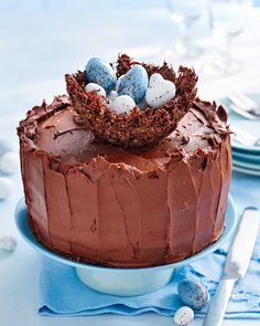 Chocolate nest Easter cake | delicious. magazine
