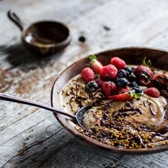 chia spices and salted caramel in one bowl of delicious, healthy buckwheat porridge.