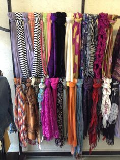 Fall scarves at Etc.