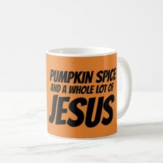 PUMPKIN SPICE & JESUS Christian Coffee Mugs - home gifts ideas decor special unique custom individual customized individualized