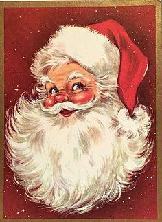Vintage Christmas Card Santa Man of the Hour Errett Smith Vintage Weihnachtskarte Santa Mann der Stunde Errett Smith Christmas Scenes, Christmas Past, Father Christmas, Old Time Christmas, Xmas, Vintage Christmas Images, Retro Christmas, Christmas Pictures, Santa Pictures