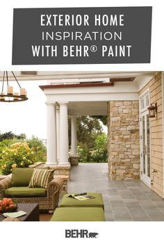 Summer is just getting started! Take advantage of the outdoor entertaining season with this home patio inspiration from Behr Paint. A new coat of paint is an easy way to freshen up the exterior walls of your backyard patio. Click below to discover your perfect paint color palette.