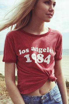 Brandy ♥ Melville | Jessica Los Angeles 1984 Top - Graphics