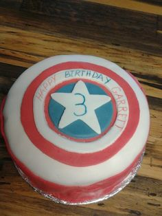 Captian America cake I for my three year old