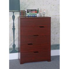 Commodious 5 Drawer Storage Chest With Metal Glides, Cherry Brown Teen Dresser, Chest Dresser, 5 Drawer Chest, 5 Drawer Storage, Hidden Storage, Storage Chest, Bedroom Chest Of Drawers, Online Shopping, Cherry Brown