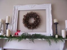 Mantle idea for Christmas