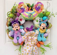 Easter Wreath Mickey Mouse Disney Easter by SparkleForYourCastle,
