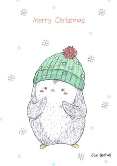 Ellie Bednall Illustration - Buy as a Christmas card - http://www.artrookie.co.uk/EllieBednall