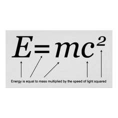 E=MC2 Einstein's Theory of Relativity Posters