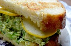 Edamame Avocado Salad Sandwich