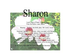 Image result for sharon meaning Personal Integrity, Hebrew Names, You Know Where, Names With Meaning, Travel And Leisure, Prompts, Meant To Be, Singing