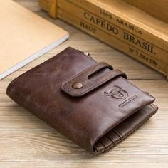 High Capacity Men Genuine Leather Cowhide Wallet Bifold Coin Purse Card Holder for sale online Leather Men, Leather Wallet, Minimal Wallet, Coin Bag, Mini Crossbody Bag, Purse Wallet, Rfid Wallet, Cross Body Handbags, Bag Storage