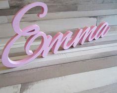Lindos y Unicos nombres en madera por MaderitasEmpapeladas en Etsy