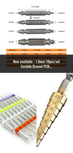 1.0mm 10pcs/set Carbide Dremel PCB Drill Bits Set Drill Bit, Dremel, Plugs, Corks, Drills, Drill