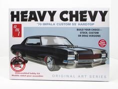 Shore Line Hobby - 1970 Chevy Impala Heavy Chevy AMT 895 1/25 New Car Plastic Model Kit...I want about three of these...