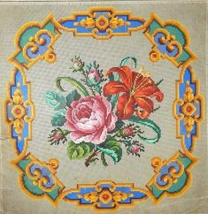 Sajou in Paris Handmade Home, Handmade Bags, Cross Stitch Embroidery, Cross Stitch Patterns, Berlin, Paint Charts, Paisley, Vintage Flowers, Needlepoint