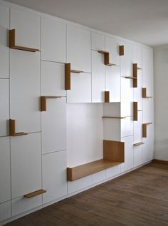 Home Decorators Luxury Vinyl Plank Built In Furniture, Art Furniture, Luxury Furniture, Furniture Design, Contemporary Furniture, Living Room Storage, Wall Storage, Shelf Design, Cabinet Design