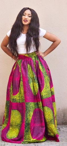 African print maxi skirt, 2 side pockets and zipper at the back. The skirt is fully lined   Made with 100% cotton high quality. African print wax fabric and 100% cotton lining.   Skirt measures 45 inches long. the LUMI maxi skirt pink. Ankara | Dutch wax | Kente | Kitenge | Dashiki | African print bomber jacket | African fashion | Ankara bomber jacket | African prints | Nigerian style | Ghanaian fashion | Senegal fashion | Kenya fashion | Nigerian fashion | Ankara crop top (affiliate)