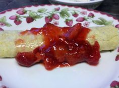 Low Carb Breakfast Crepes With Cheese Filling