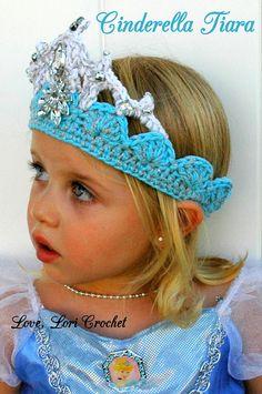 Disney Cinderella Cinderella Tiara Cinderella by LoveLoriCrochet