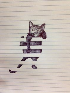 Creative Cute Cat Doodle Drawing Pictures, Photos, and Images for ...